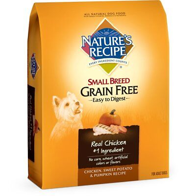 Natures Recipe Small Breed Grain Free Easy To Digest Dry Dog Food  Chicken