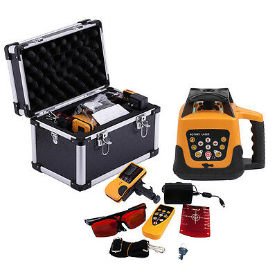 Red Beam Rotary Laser Level Rotating Self Levelling 500m Range Automatic