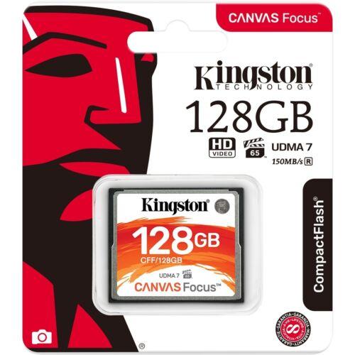 Kingston Canvas Focus Compact Flash Memory Card 128GB High Performance