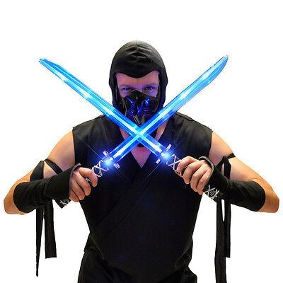 Deluxe Multi Colored Ninja Light Up Samurai Sword Kids Game Dress Up Costume Led
