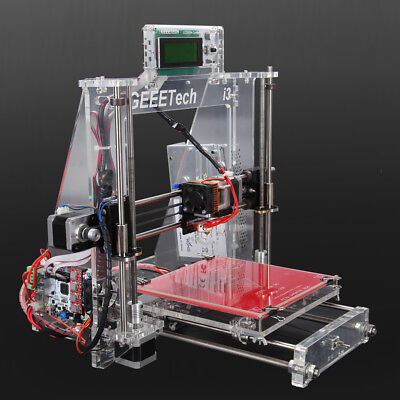Geeetech 3D Printer Reprap Prusa i3 Pro B Arcylic Construction MK8 LCD2004 DIY Kit