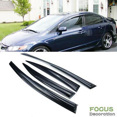4X Window Visor Vent Shade Rain Guard for Honda Civic 4 door Sedan 2006-2011 4 Door Sedan Window