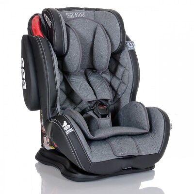 LCP Kids Autokindersitz 9-36 kg GT Grau Autositz Gruppe 1 2 3 mit Schlafposition