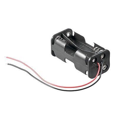 _ Batteriehalter mit Anschlusskabel 4x AA / 4x Mignon Batterie Batteriefach Batterie Halter