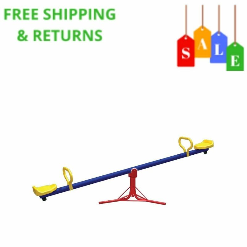 Kids See Saw Spinner Playset Spins 360 Degrees Backyard Outs