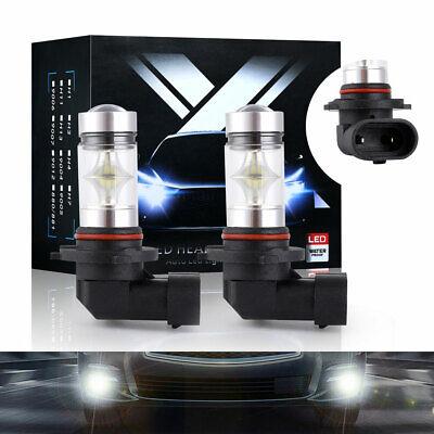 2X 9140 9145 H10 LED 100W 20-SMD 6000K White Fog Light Driving DRL Bulb HB3 9005