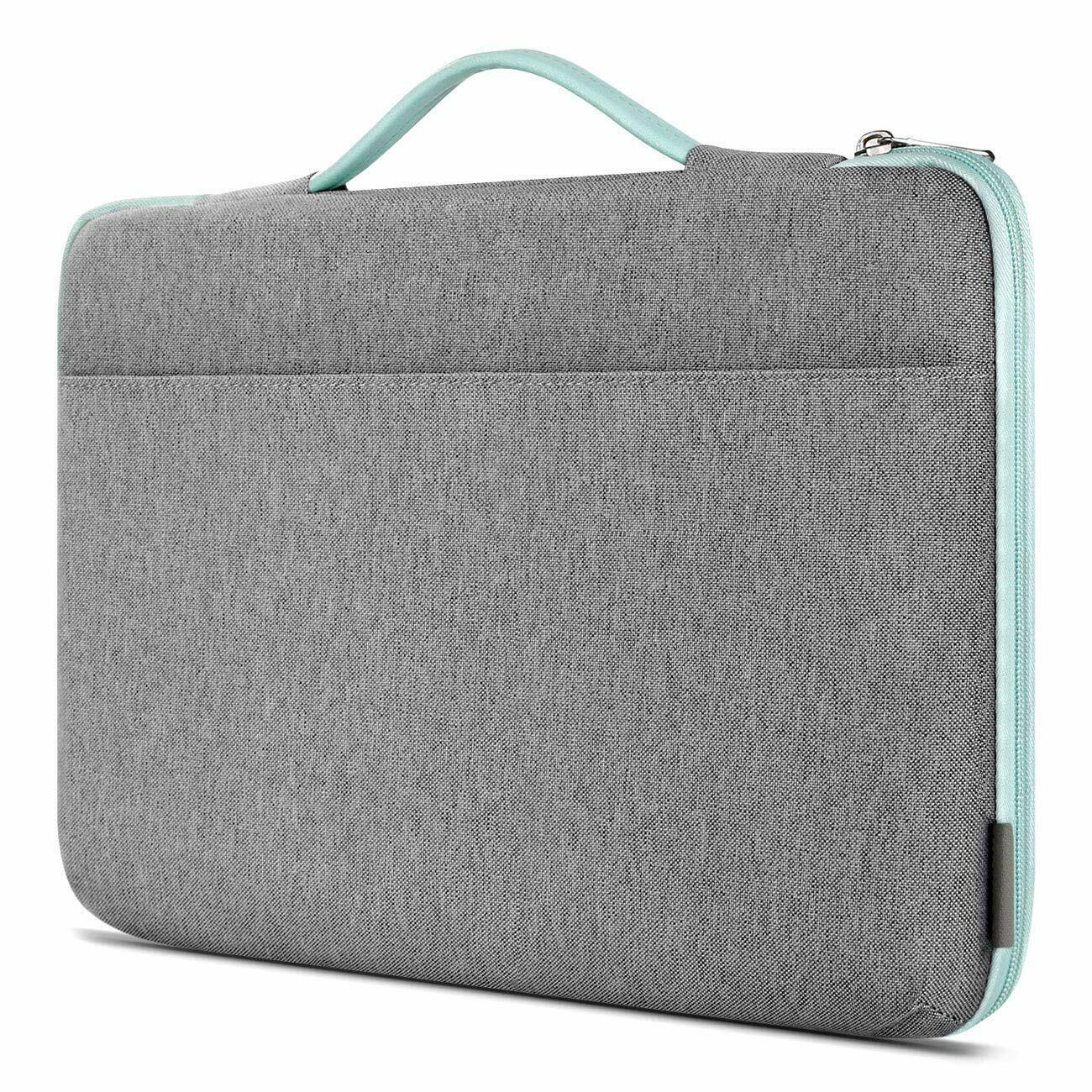Inateck 15~15,6 Zoll Stoßfestes Notebooktasche Laptotasche Koffer, Grau Mintgrün
