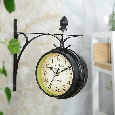 Outdoor Bracket Clock Garden Paddington Station Wall Clock 20CM Double Sided