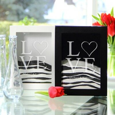 Personalized Sand Ceremony shadow BLACK Box Set & 2 Pouring Vases Choose - Sand Ceremony Vases