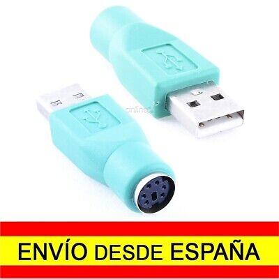 Adaptador USB Macho a PS2 Hembra CONVERSOR Verde a1453