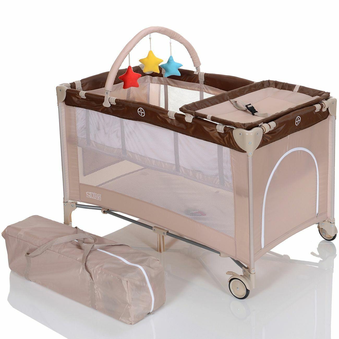 Kinderreisebett Klappbett Laufstall Reisebett Babybett mit Faltmatratze Einlage