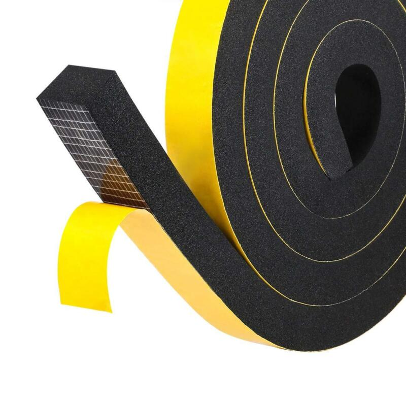 Weatherstrip Adhesive Foam Insulation Tape High Density Soundproofing Seal Strip