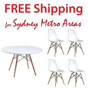 COMBO SALE - Eames Wood Leg Table & 4 x Eames DSW Chair Zetland Inner Sydney Preview