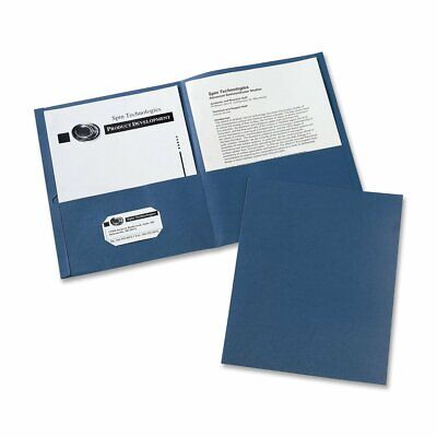 Avery Two-pocket Folders Dark Blue Box Of 25 47985