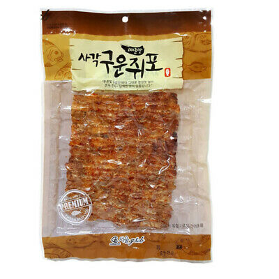 3 Pack Roasted and Seasoned Spicy Filefish Korean Snack Delicious Dried Fish