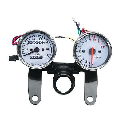 Universal Odometer Speedometer Tachometer Motorcycle MotorBike Gauge Cafe Racer