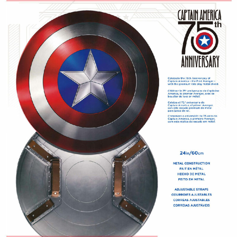 1:1 Captain America 75th Anniversary Avengers Shield Alloy Metal Collect INStock