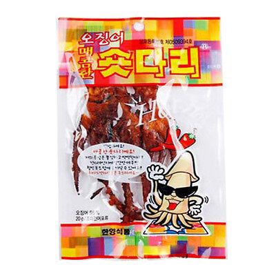 Roasted and Seasoned Spicy Squid Legs 8 Pack SHORT DARI Korean Snack Food