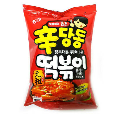 Korean Sindangdong Tteokbokki Snack Tasty Sweet Spicy Chips Crackers 110g