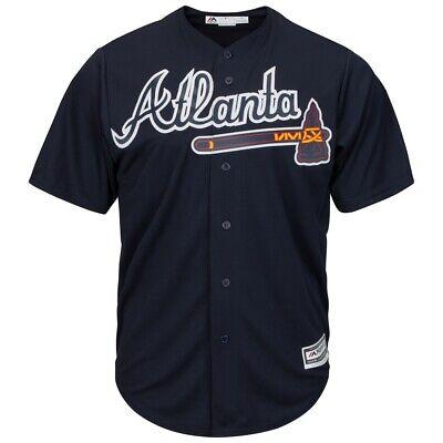 Alte Baseball-jersey (MLB Baseball Trikot Atlanta Braves Alternate navy Cool base Majestic Jersey)
