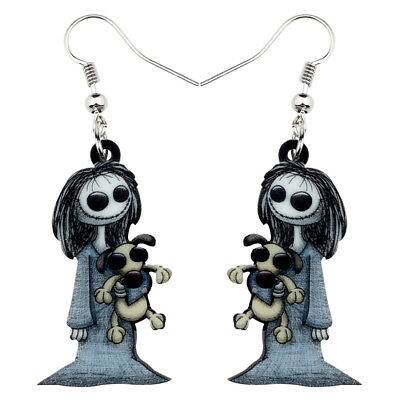 Acrylic Halloween Dark Smile Doll Earrings Dangle Decor Jewelry For Women Gifts - Halloween Earrings