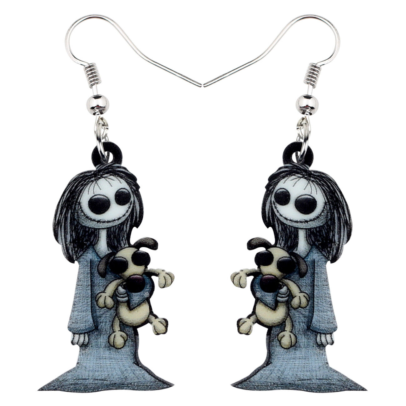 acrylic halloween dark smile doll earrings dangle