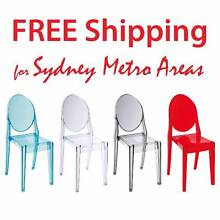 SALE - Philippe Starck Style Victoria Ghost Chair (set of 4) Zetland Inner Sydney Preview