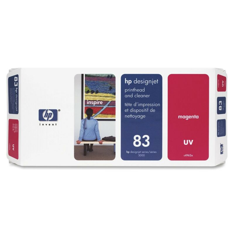 HP 83 C4962A UV Printhead and Cleaner for DesignJet 5000 series Magenta