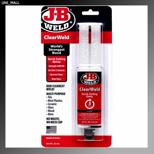 J-B Weld 50112 ClearWeld Quick Setting Epoxy