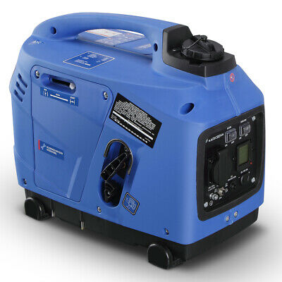 1250-Watts Peak Quiet Portable Inverter Generator LCD Gas Po