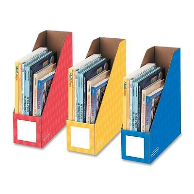Fellowes Magazine File Holders Ltr 4x11x12-14 3pk Ast 3381701