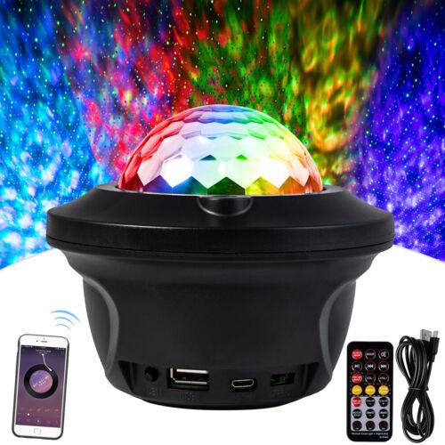 Bluetooth Speaker RGB LED Stage Light Strobe Disco Party DJ Ball Lamp W/ Remote Audio Docks & Mini Speakers
