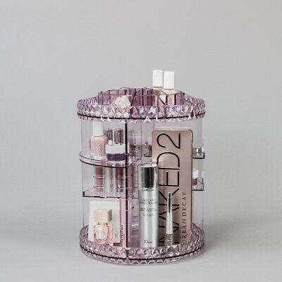Sorbus 360° Makeup Organizer, Rotating Adjustable Carousel Storage  (Purple)