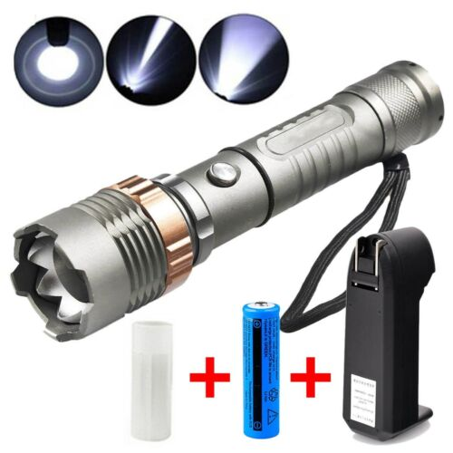 950000Lumens Super Bright T6 LED Zoom Focus Torch Lamp Flashlight Rechargeable