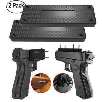 2pcs Gun Magnet Concealed Holder Holster Under Desk Duck Blind Bedside Truck Car