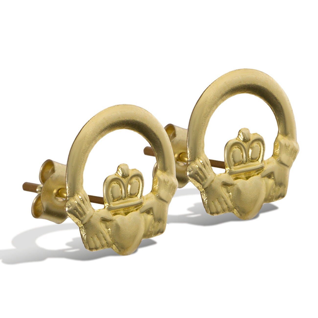 9ct Yellow Gold Irish Celtic Claddagh Ring for Children 9ct Yellow Gold Women Available in 3 Styles /& in Sizes A-Q Maids