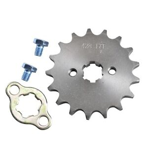 17Tooth 428 Pitch 17mm Front Counter Sprocket Pit Dirt Bike ATV Taotao Lifan YX