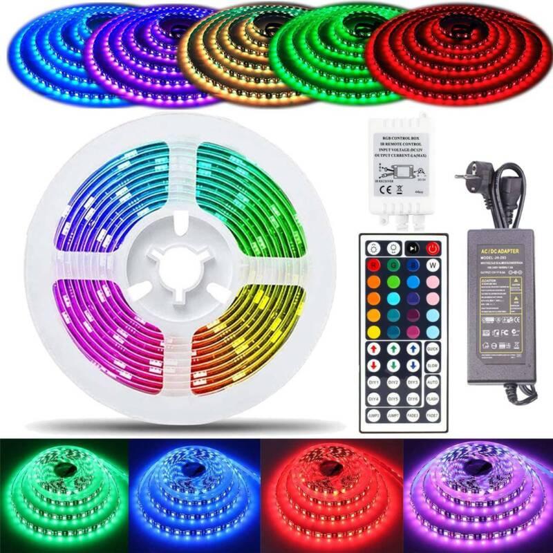 RGB LED Stripe 5050 Leiste Streifen Band Licht Leuchte Lichterkette 30LEDS//m 12V