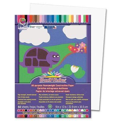 "Pacon Sunworks Groundwood Construction Paper - 9"" X 12"" - Bright White (8703)"