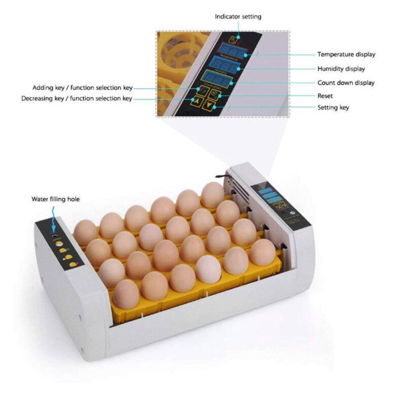 Brutmaschine 24 Eier Brutapparat Flächenbrüter Brüter Inkubator Vollautomatisch