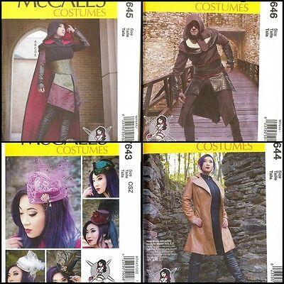 New McCalls Sewing Pattern Costume Men Women Halloween Cosplay 2017 You Pick - Halloween Costumes 2017 Men
