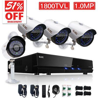 Wired Home Surveillance Security Camera System 1800 TVL 8CH 960H HDMI CCTV DVR