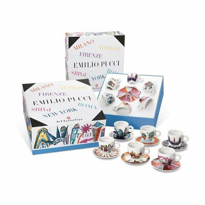 NIB EMILIO PUCCI x ILLY ART COLLECTION Cappuccino Set of 6
