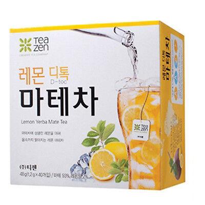 Korean Lemon Detox Yerba Mate Tea 40 Tea Bag Health Diet Tea
