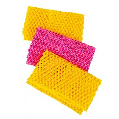 3Pcs Dish Washing Net Cloths Sanitary Kitchen Scrubber for Cleaning Dishes