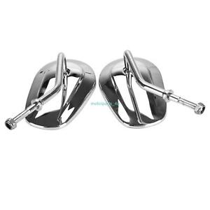 Teardrop Rearview Side Mirrors Chrome For Harley Touring Road King Fatboy 8mm