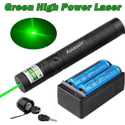 Ultra Strong 532nm Mini Green Laser Pointer Pen 200Miles Burning Lazer+Batt+Char (Mini Laser Pointer)