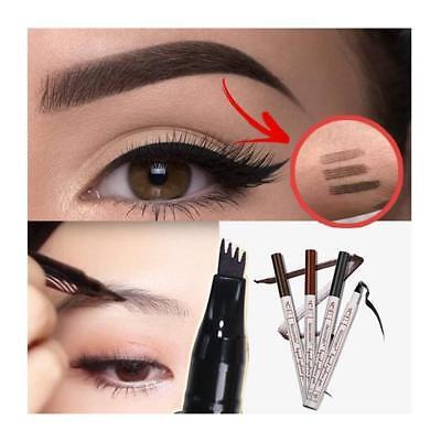 Tattoo Augenbrauenstift mit Tips Langanhaltend wasserfest Eyebrow Augen Make-up Stift Ende