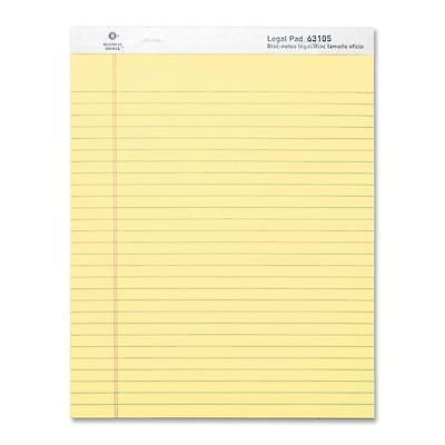 Business Source Legal Pads Legal Ruled 50 Sht 8-12x11-34 12pack Ca 63105