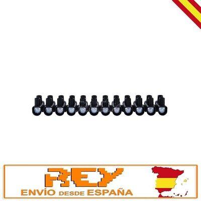 Regleta Empalmes 12 Secciones para Cables de 25mm Conexión Eléctrica 60A v446